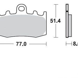 Pastillas de freno braking 892CM55 BMW R1200 GS 08-12 DELANTERA