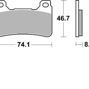Pastillas de freno braking 899CM55 KAWASAKI ZX636/HONDA CBR 600RR DELANTERA