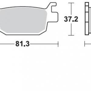 Pastillas de freno braking 908SM1  BENELLI TNT 250/300 TRASERA