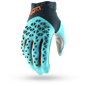 Guantes / Gloves 100% Airmatic Steel Grey / Ice Blue