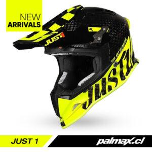 Casco J12 Pro Racer Carbon Fluo Yellow   JUST 1