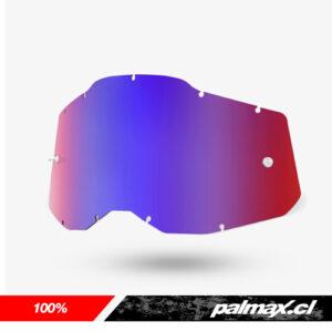 Mica de antiparras Red/Blue Gen 2 (Racecraft 2, Accuri 2 y Strata 2) | 100%
