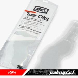 Tear Offs Gen 2 pack 20 unidades (Racecraft 2, Accuri 2 y Strata 2) | 100%